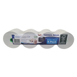 Planet Ark BPA Free Thermal Register Rolls 80mm x 80mm x 17mm 90m Roll Box of 30