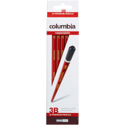 Columbia Copperplate Pencil Hexagon 3B Pack Of 20