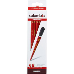 Columbia Copperplate Pencil Hexagon 6B Pack Of 20