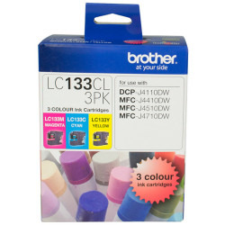 Brother LC-133CL Ink Cartridge Value Pack of 3 Assorted Colours