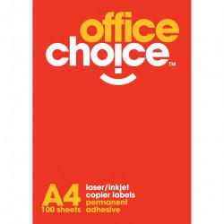Office Choice Laser Copier & Inkjet Labels 16UP 99.1x34mm