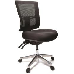 Buro Metro II 24/7 High Mesh Back Chair No Arms Alloy Base Seat Slide Black